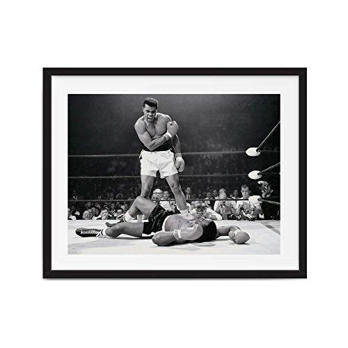 Framed art muhammad ali art, Framed Muhammad Ali vs. Sonny Liston Printed, boxing posters, Muhammad ()