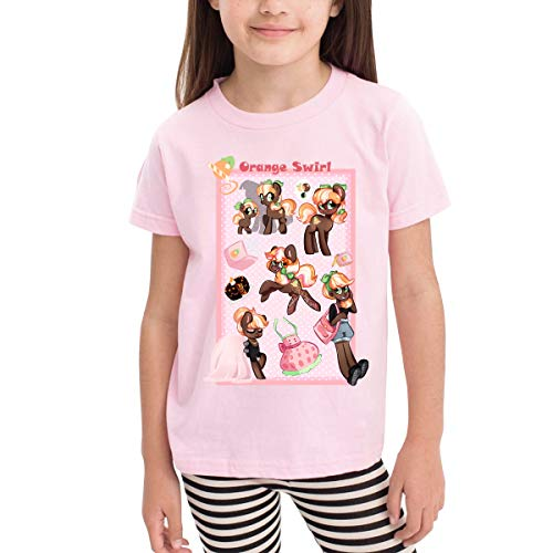 Quxueyuannan Children's T-Shirt, Cookie Swirl Pattern Shirt Short Sleeve Cotton Graphic Tee for Girls Boys Kids