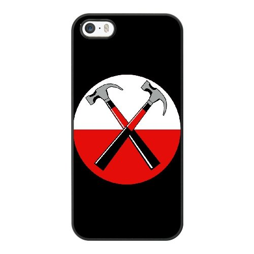 Coque,Coque iphone 5 5S SE Case Coque, Pink Floyd The Wall Hammer Symbol Cover For Coque iphone 5 5S SE Cell Phone Case Cover Noir