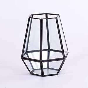 Homevibes Portavelas con Colgante Decorativo, Forma Hexagonal, Farol para El Jardin, para Uso En Interiores Y Exteriores: Amazon.es: Hogar
