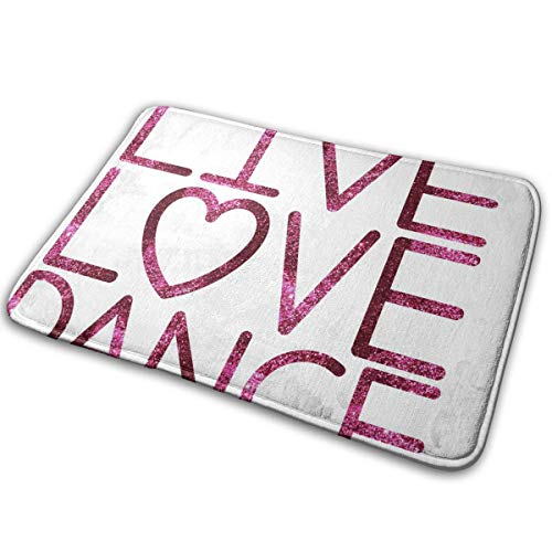 FunnyCustom Doormat Gallery Love Dance Stylish Non Slip Water Absorption Entrance Mats for Bathroom -