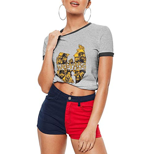 Dmamgk loang Adult Fitted Casual O Neck Ringer Tee