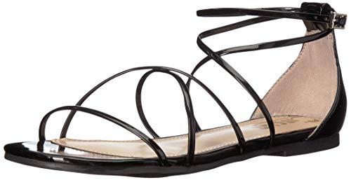 Circus by Sam Edelman Women's Bonita Flat Sandal, Black Patent, 9 M US