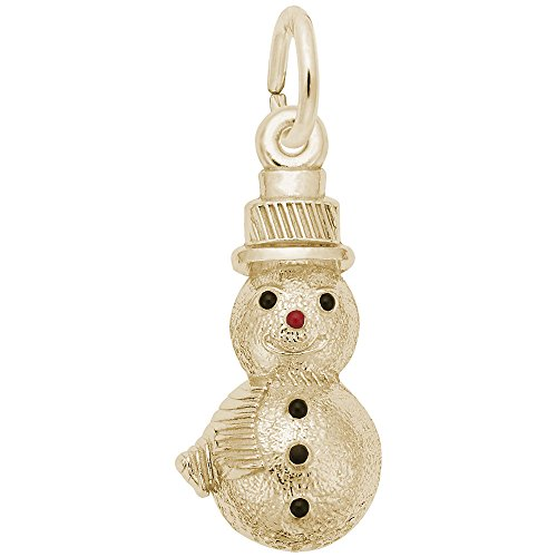 Rembrandt Charms, Snowman, 14k Yellow Gold