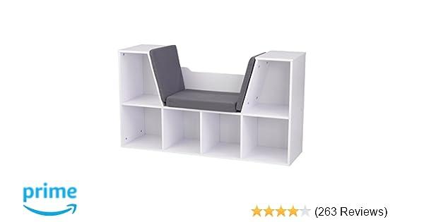 Amazon.com: kidkraft bookcase with reading nook toy white: toys & games