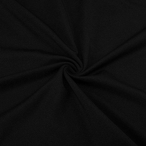 Profonde AMUSTER en Trompette Chemise Manches Noir de Sexy V Blouse Longues des lache Femmes col Unie Mode Shirt La Haut Couleur AqABprSw