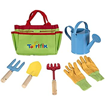Exceptionnel Little Gardener Tool Set With Garden Tools Bag For Kids Gardening   Kit  Includes Watering Can, Children Gardening Gloves, Shovel, Rake, Fork And  Garden Tote ...