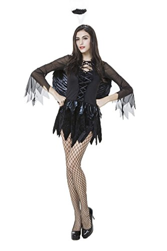 [SunnyHoliday Angel Costumes Night Angel female demon cosplay clothes outlet clothes real shot Halloween] (Angel And Demon Costumes)