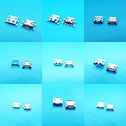 10Model Each 5pcs Electrical Equipments Supplies 10Model Micro USB Mother Female Port Connector Centro De Carga para Telefono Mix SMD DIP USB Jacks for Samsung for Lenovo for Huawei for ZTE
