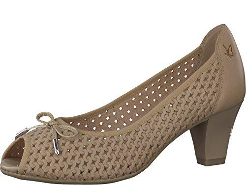 Caprice - Zapatos con tacón Mujer Beige