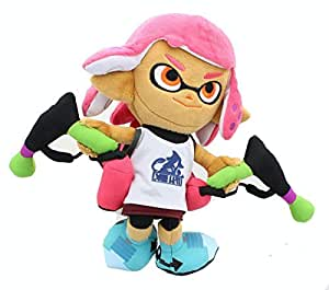 little buddy 1660 splatoon 2 series inkling girl neon pink 9 5 plush toys games. Black Bedroom Furniture Sets. Home Design Ideas