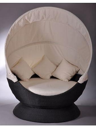 Amazon De Sonneninsel Nest Lounge Schwarz Liege Gartenliege