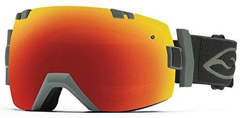 - Smith Optics I/OX Vaporator Series Snocross Snowmobile Goggles Eyewear - Charcoal/Red SOL-X/Blue Sensor/Medium/Large