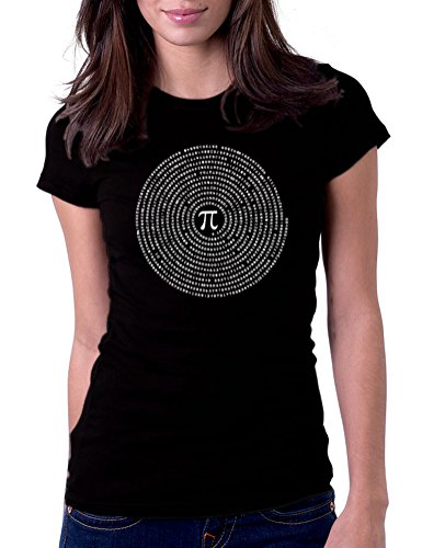 Gbond Apparel Pi Math Circle - Womens Tee T-Shirt, Large, Black (T-shirt Pi Rational)