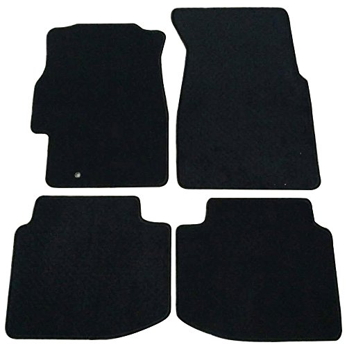 Floor Mats Fits 1996-2000 HONDA CIVIC 2 & 3 & 4 DOOR | Nylon Black Front Rear Carpet by IKON MOTORSPORTS | 1997 1998 1999