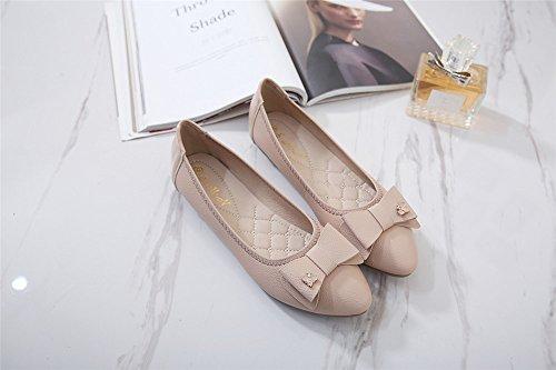 LIVY 2017 nueva perspectiva de diamantes arco hebillas de zapatos de los planos Rosado