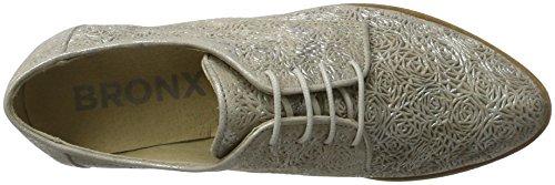 Bronx Bx 883 Btaggerx, Zapatos de Cordones Derby para Mujer plateado (silver)