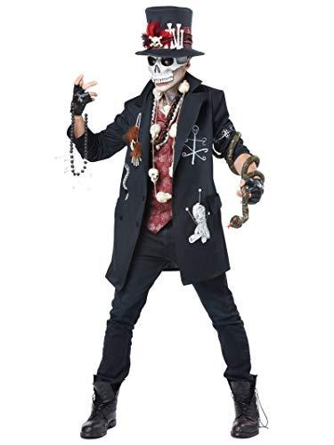 Scary Halloween Costumes For Big Guys (California Costumes Men's Voodoo Dude, Black/Burgundy,)