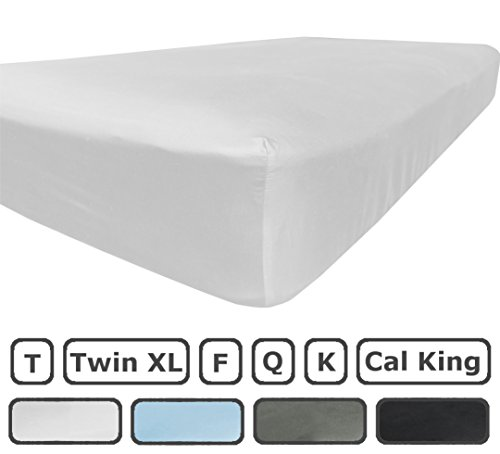 California King Fitted Sheet Only - 300 Thread Count 100% Egyptian Cotton - Pieces Sold Separately for Set - 100% Satisfaction Guarantee (White)