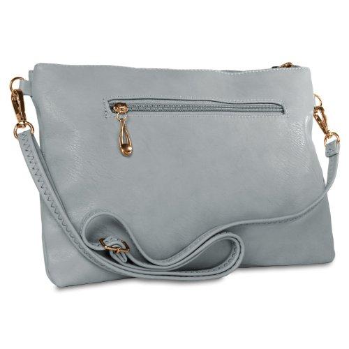 CASPAR Fashion - Bolso cruzados para mujer - azul claro