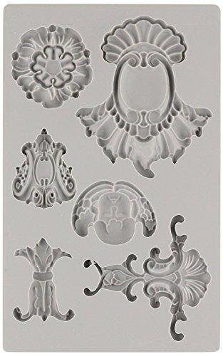 (Prima Marketing 814786 Baroque No.2 Iron Orchid Designs Vintage Art Decor Mold, Grey )