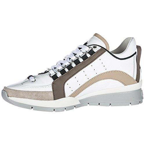 2018 Estate da Bianco Beige DSQUARED2 Sneaker Primavera 551 Uomo Scarpe ABnHqzS7