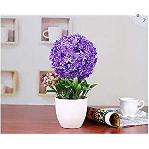 JruF Louis Garden Artificial Flower Fake Rose in Pitcher Fence Pot - Potted Plant 27