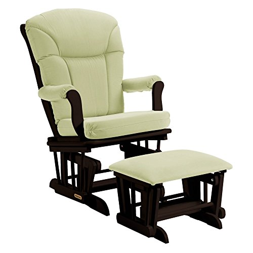 Shermag Glider and Ottoman - Espresso / Sage by Shermag