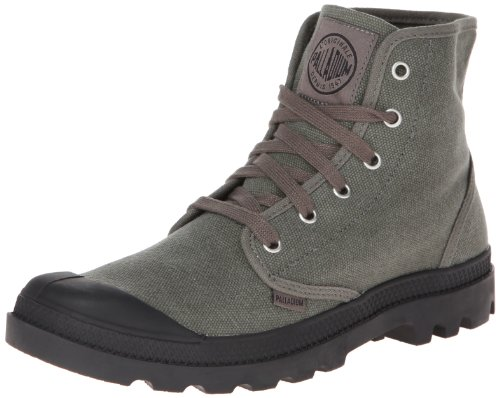 High Sneaker Boot - Palladium Men's Pampa Hi Canvas Boot,Stonewash Metal,9 M US