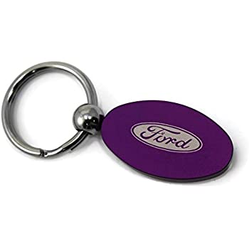 Ford Mustang Cobra Purple Leather Key Ring