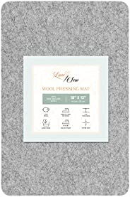 Love Sew Wool Pressing Mat - Ironing Pad for Quilters and Sewers - Perfect Small Pressing Mat for Ironing Boar