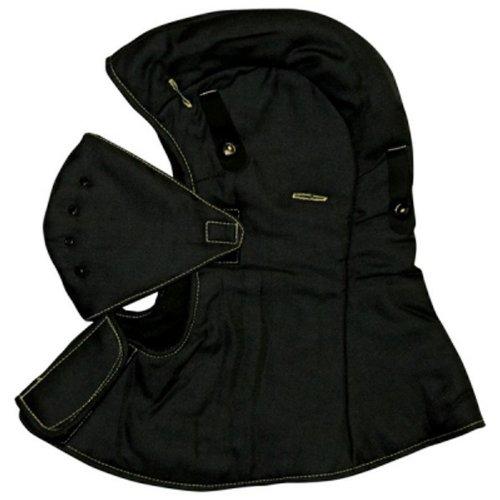 Bob Dale 96-1-425 CarbonX FR Hard Hat Liner with Face Mask Shoulder Length, Size 1, Black
