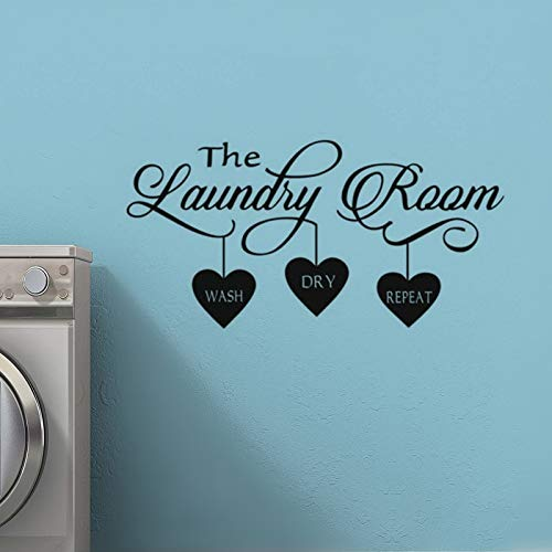 XCSJX The Laundry Room Sign Tatuajes de pared Lavar en seco ...