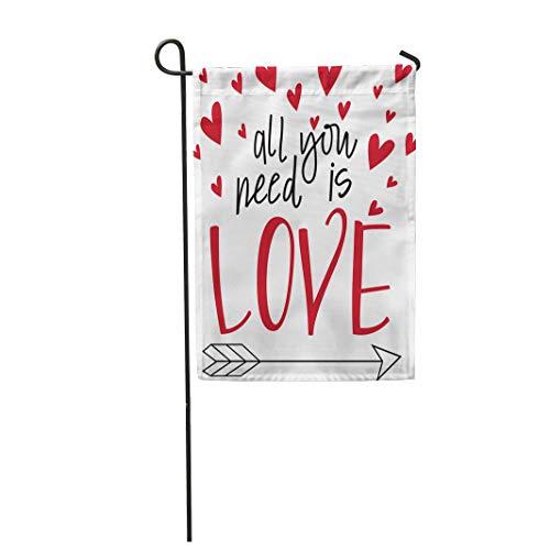Semtomn Garden Flag Red Song All You Need is Love Lyrics Arrow 28