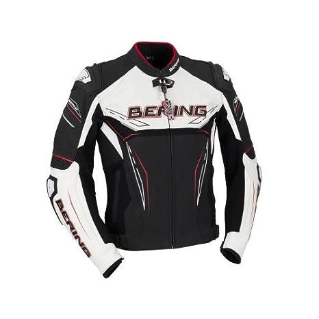 Bering Moto Chaquetas Blast de R, Negro/Blanco/Rojo, tamaño ...