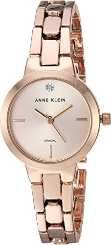 Crystal Gold Watch Links Color (Anne Klein Women's Quartz Metal and Alloy Dress Watch, Color:Rose Gold-Toned (Model: AK/3234RGRG))