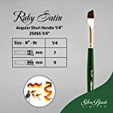 Silver Brush Limited 2506S Ruby Satin Angle Brush