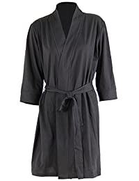 Godsen Women's Soft Kimono Cotton Sleepwear Bathrobe Nightgown Knit Robe