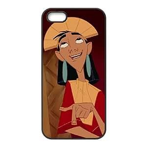 Disney The Emperor'S New Groove Character Kuzco funda iPhone 5 5s caja funda del teléfono celular del teléfono celular negro cubierta de la caja funda EEECBCAAC17812