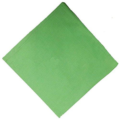 6 Pieces 100% Cotton Cowboy Head Wrap Scarf Solid Color Bandanas(Light Green) -