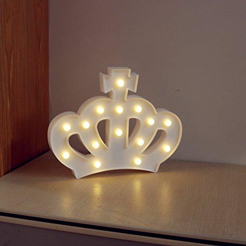 DELICORE Queen Princess Kings Crown Marquee Sign Light De...