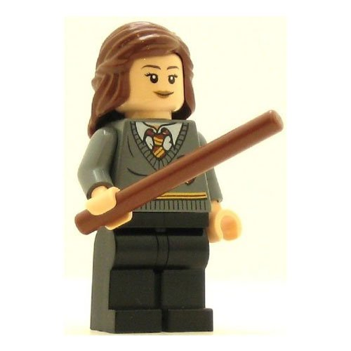 LEGO Harry Potter Minifig Hermione Gryffindor Stripe and Shield Torso Black Legs