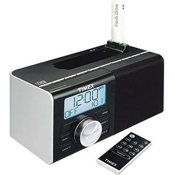 Timex Dual Alarm Clock Radio for Mp3 Songs (Black)