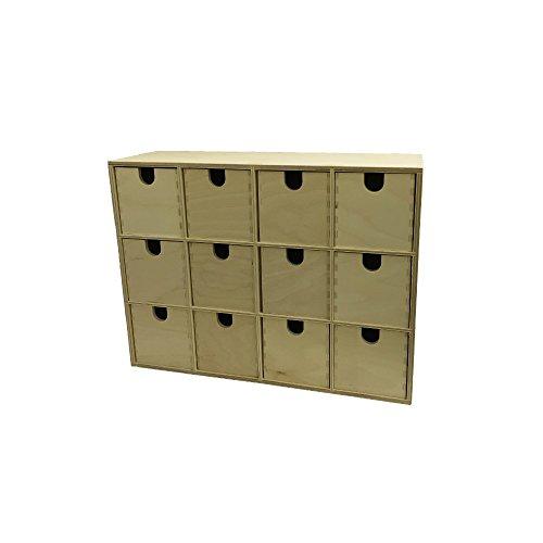 Ikea Moppe Mini Kommode In Birke Mit 12 Schubladen Amazon De