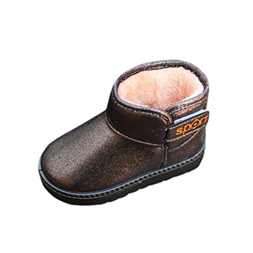 Short PU Leather Martin Boots (Coffee) - 3