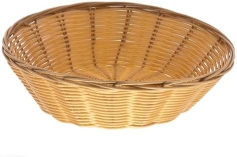 8 Inch Round Woven Bread Roll Baskets Food Serving Baskets