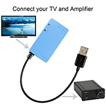 SMSL TV-DAC Digital Optical Coaxial to Analog Stereo RCA Audio Converter Adapter (Sky blue)