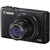 Canon digital camera PowerShot S120 (black) F value 1.8 24 mm wide-angle 5 x optical zoom PSS120 (BK) - International Version (No Warranty)