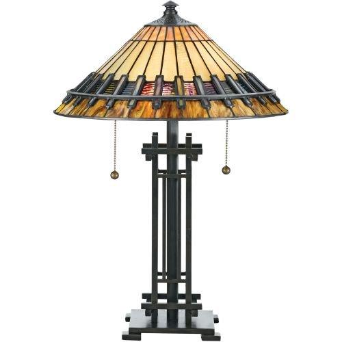 Quoizel TF489T 2-Light Tiffany Table ()