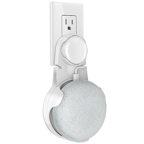 Google Home Mini Wall Mount, Coolwufan Plug-in Outlet Speake